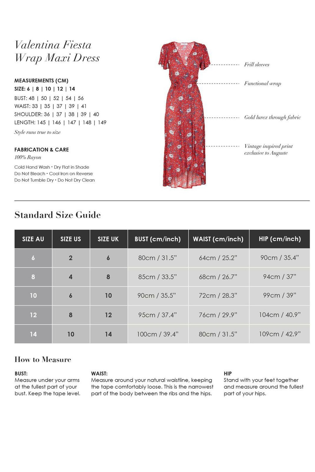 Auguste The Label  Valentina Fiesta Maxi - Back Cropped Image