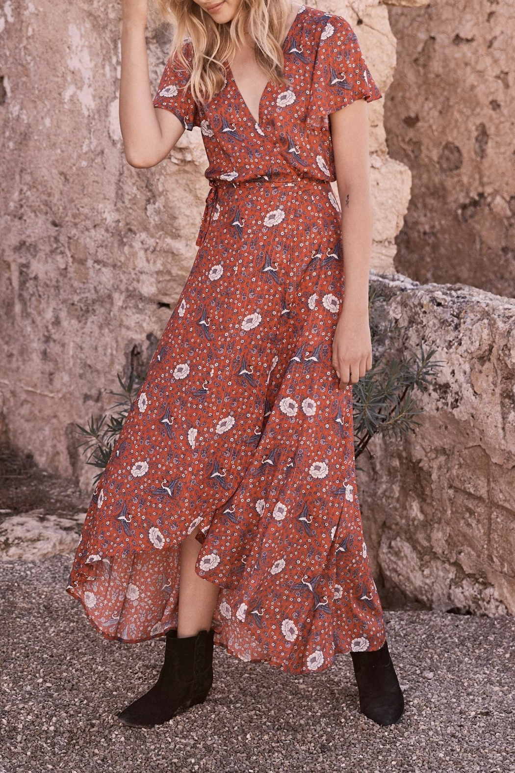 Auguste The Label  Valentina Fiesta Maxi - Side Cropped Image