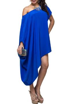 Shoptiques Product: Blue Silk Tunic Dress