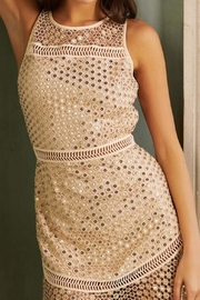 Saylor Aurie Gold Dress - Front cropped