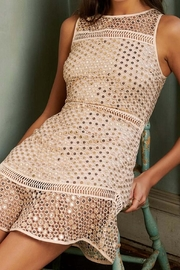 Saylor Aurie Gold Dress - Front full body