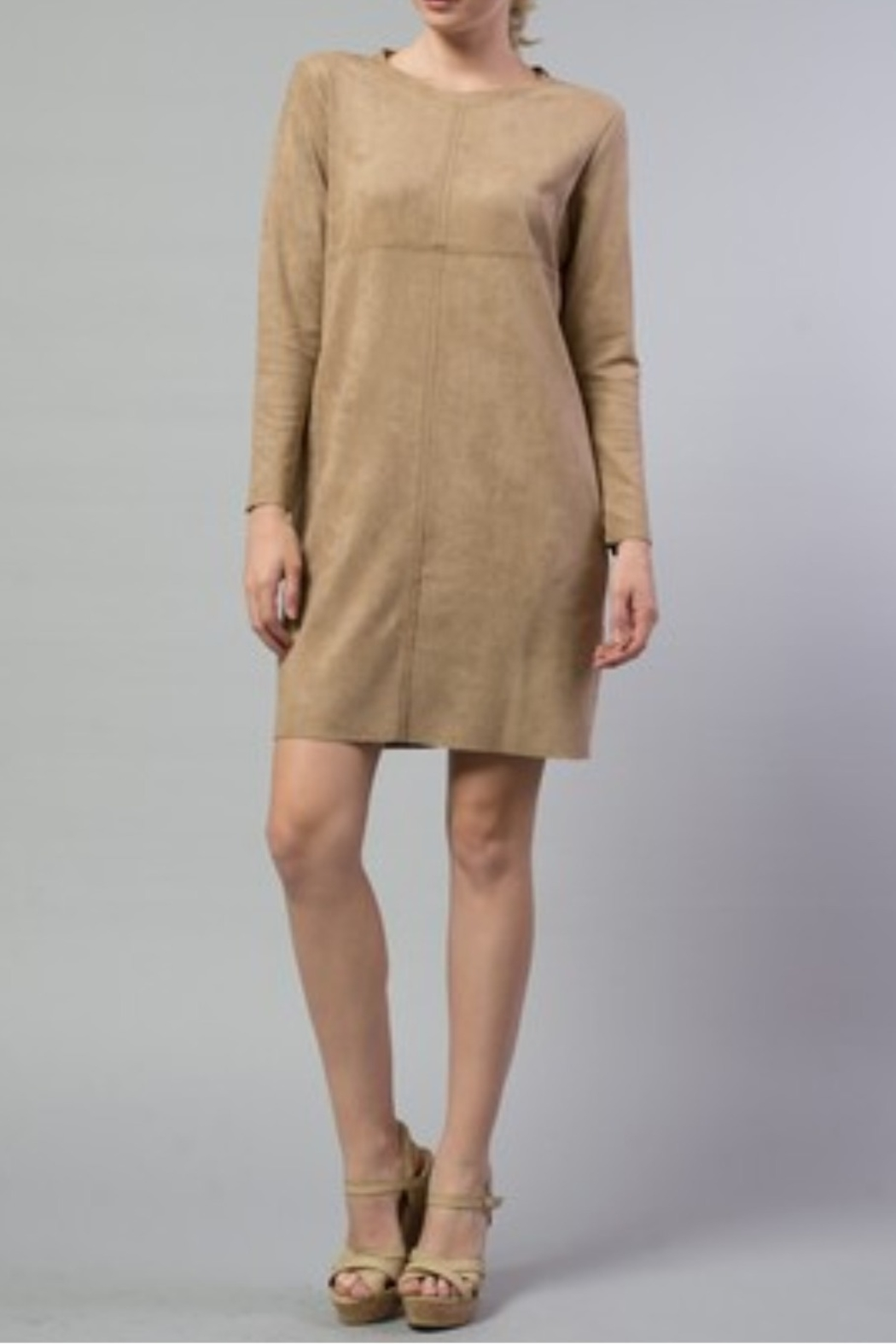 Joh Apparel Aurora Faux Suede Dress - Main Image