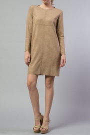 Joh Apparel Aurora Faux Suede Dress - Front cropped