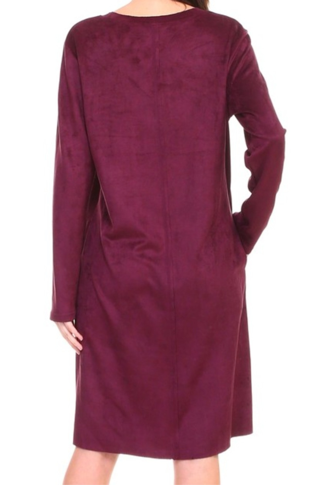 Joh Apparel Aurora Faux Suede Dress - Front Full Image