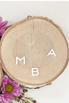 Lotus Jewelry Studio Aurora Letter Necklace In Silver - Product List Image