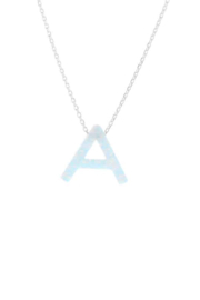 Lotus Jewelry Studio Aurora Letter Necklace In Silver - Product Mini Image