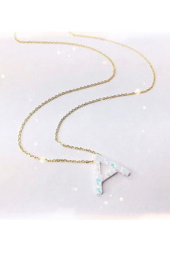 Lotus Jewelry Studio Aurora Letter Necklace in Gold - Product List Image