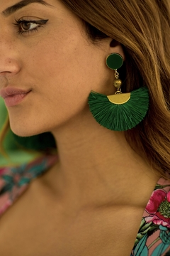AURORAH Fan Dangle Earrings - Alternate List Image