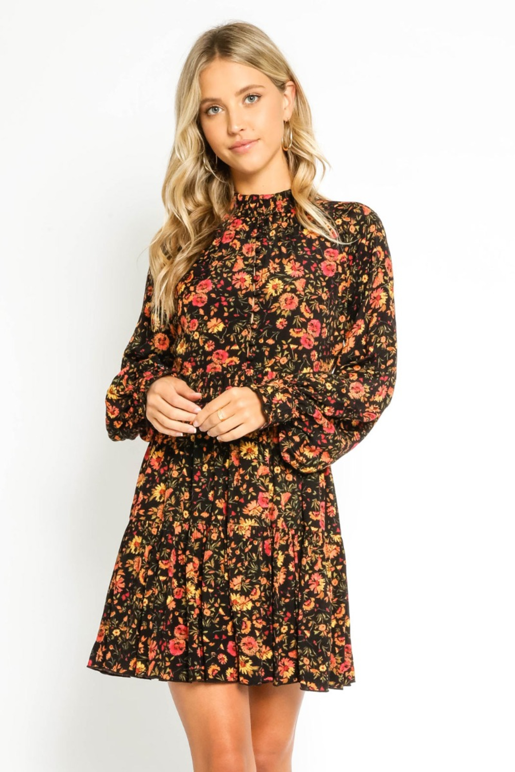 Olivaceous  Autumn ButtonUp Dress - Side Cropped Image