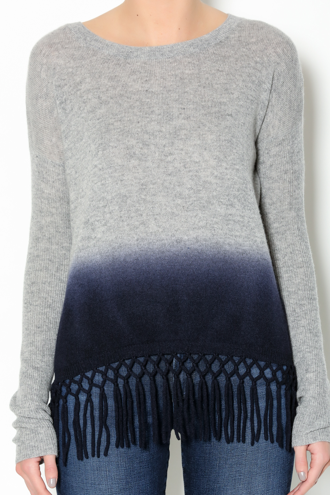 Autumn Cashmere Dip Dye Fringe Sweater From New York City