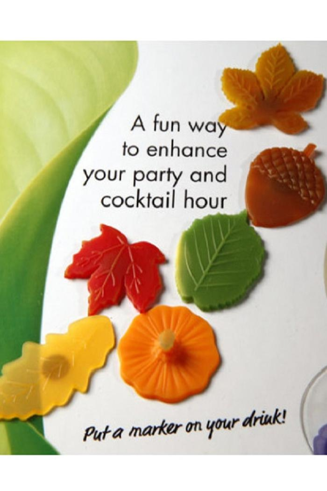 Charles Viancin Autumn Drink Markers - Main Image