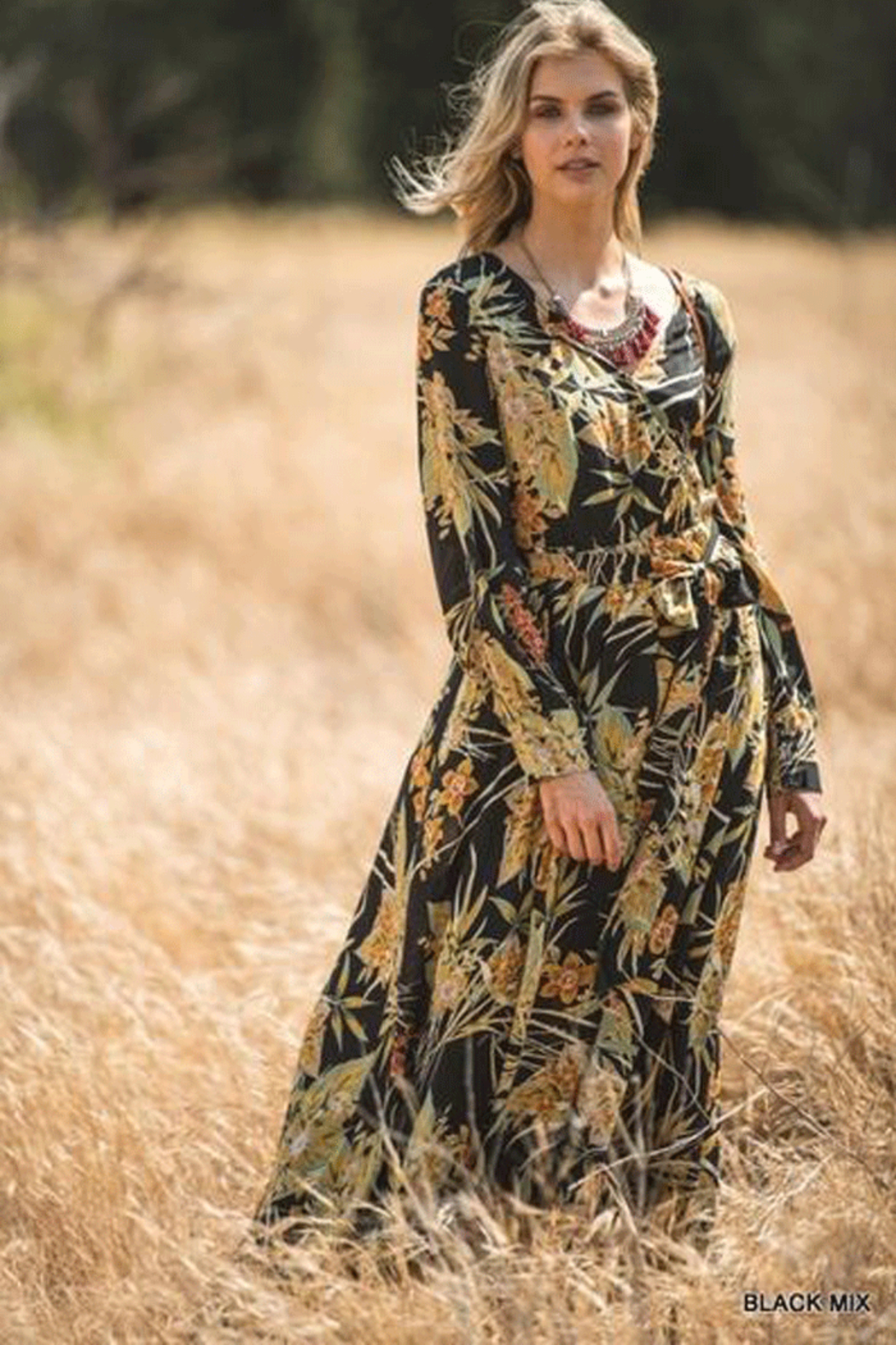 Jodifl Autumn Floral Maxi - Front Cropped Image