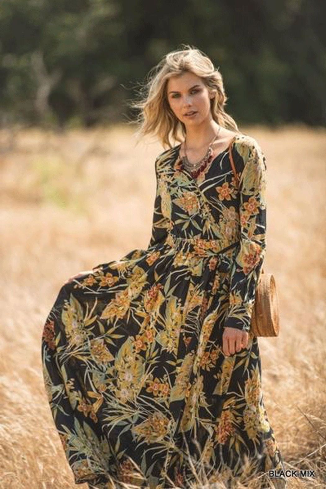 Jodifl Autumn Floral Maxi - Front Full Image