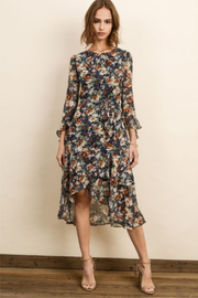 dress forum Autumn Floral Ruffle Dress - Product Mini Image
