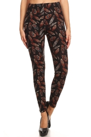 HGG Autumn Leaf-Pattern Leggings - Product Mini Image