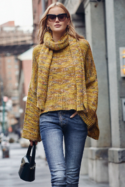 Elan Autumn Leaves Sweater and Scarf Set - Front cropped