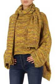 Elan Autumn Leaves Sweater and Scarf Set - Front full body