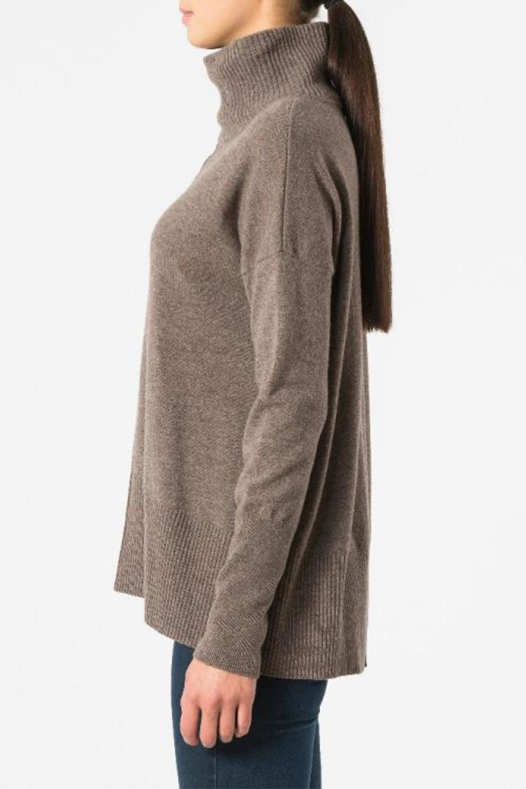 Autumn Cashmere Relaxed Mock Sweater - Front Full Image