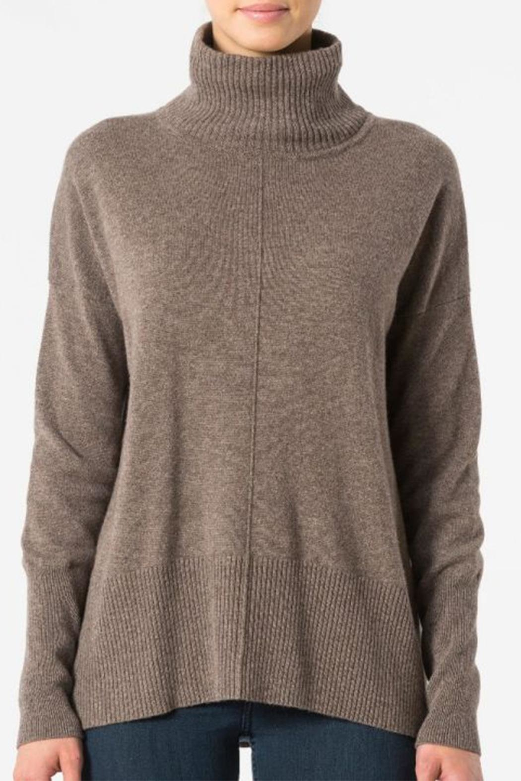 Autumn Cashmere Relaxed Mock Sweater - Main Image