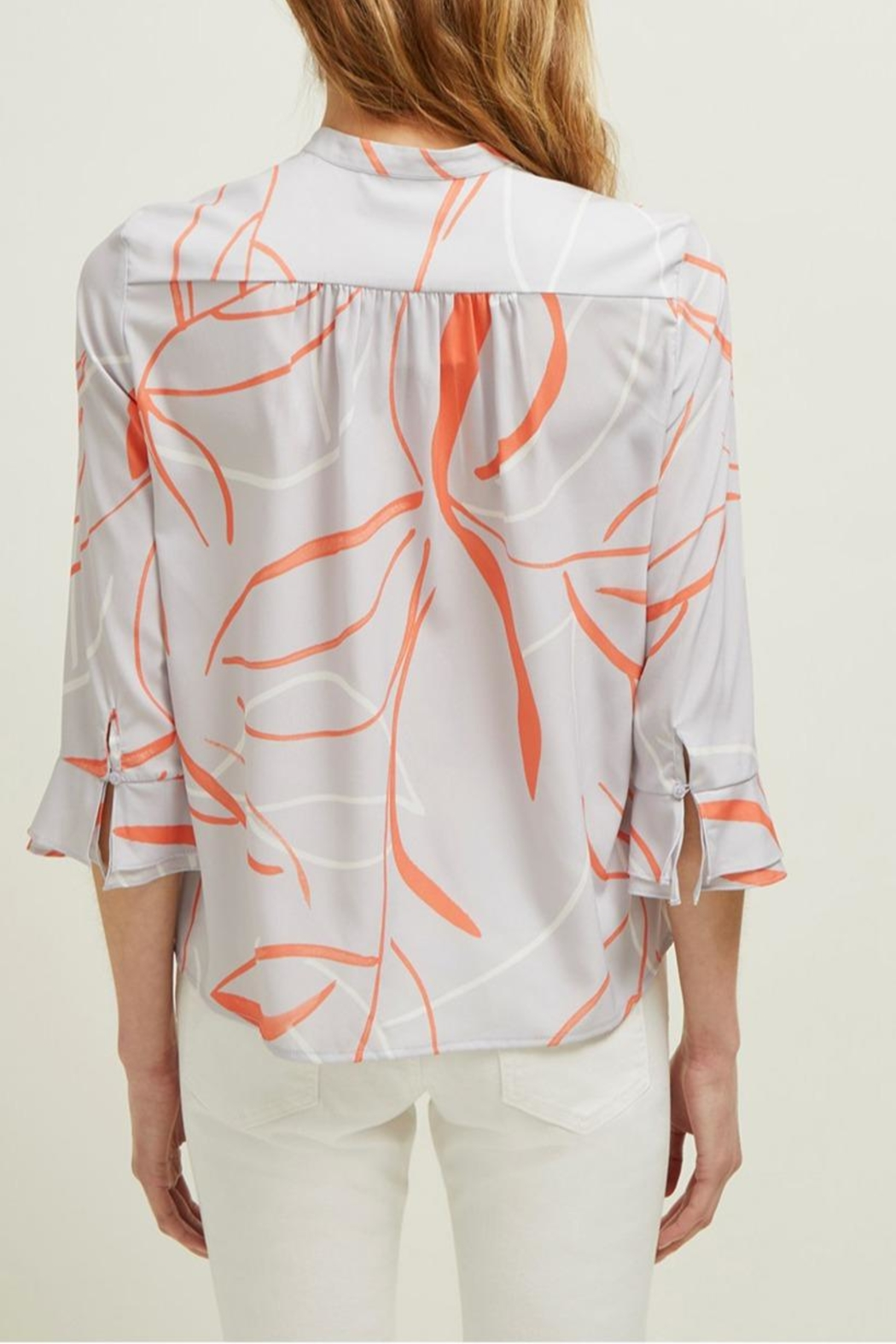 Great Plains Ava Abstract Blouse - Back Cropped Image
