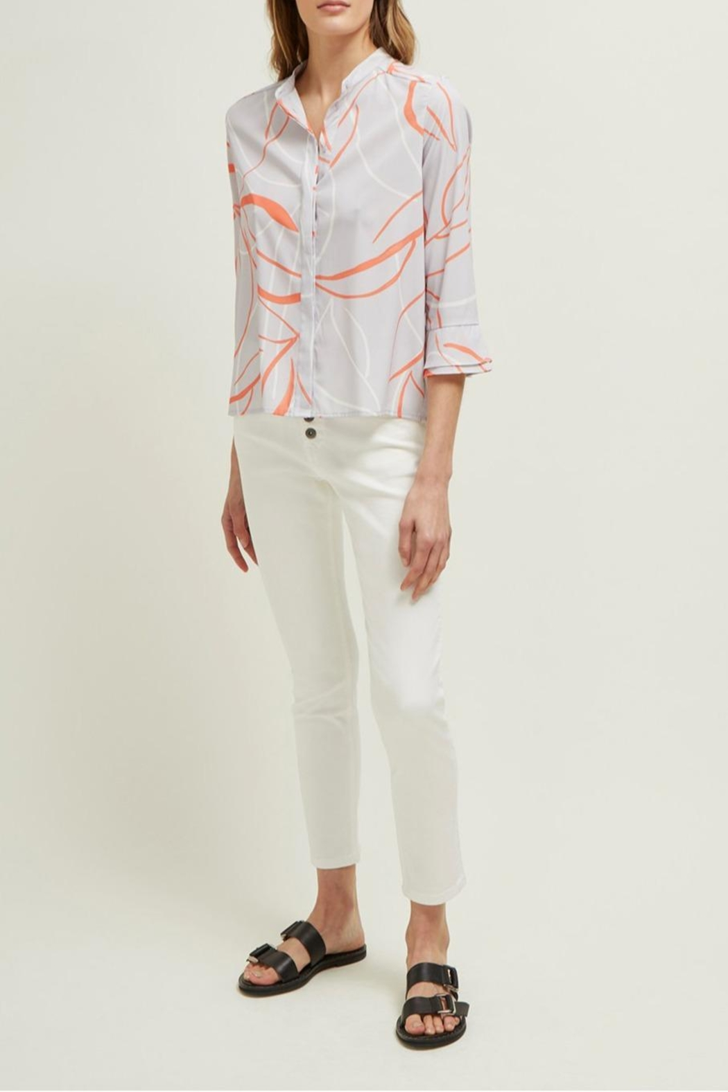 Great Plains Ava Abstract Blouse - Front Full Image