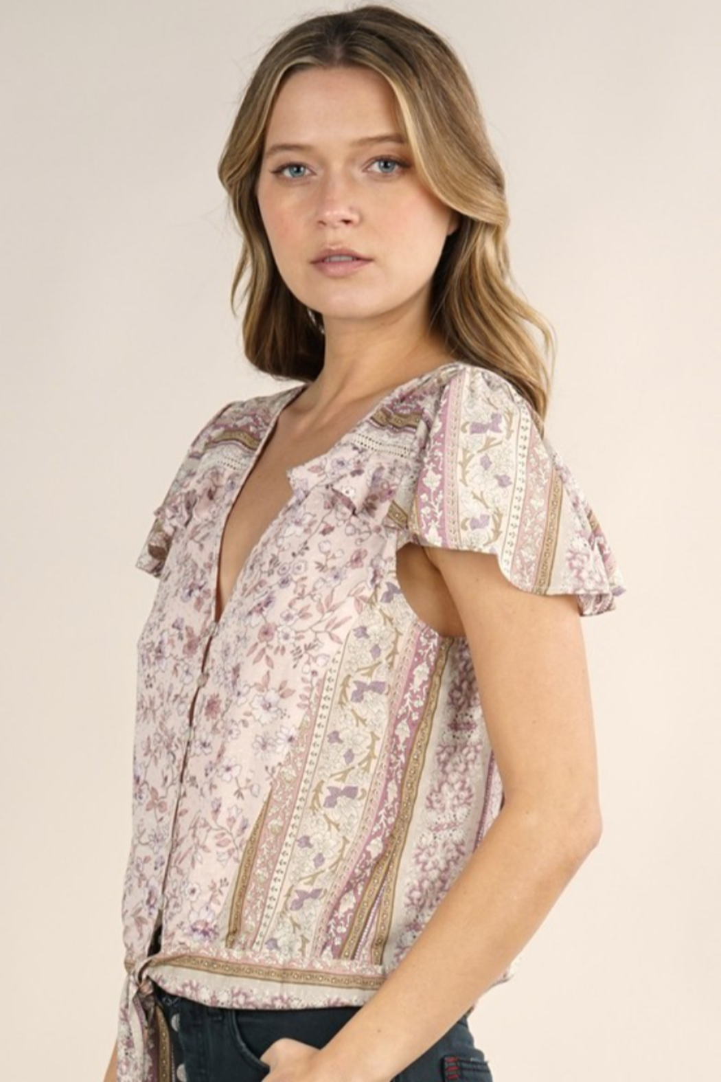 Lovestitch Ava  Blouse - Side Cropped Image