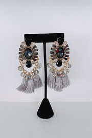 ADRIANA JEWERLY Ava Crystal Fringe Earrings - Product Mini Image