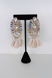 ADRIANA JEWERLY Ava Crystal Fringe Earrings - Front cropped