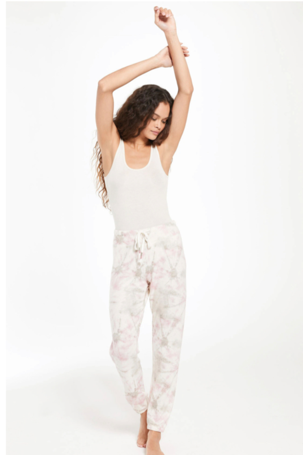 z supply Ava Faded Tie Dye Jogger - Back Cropped Image