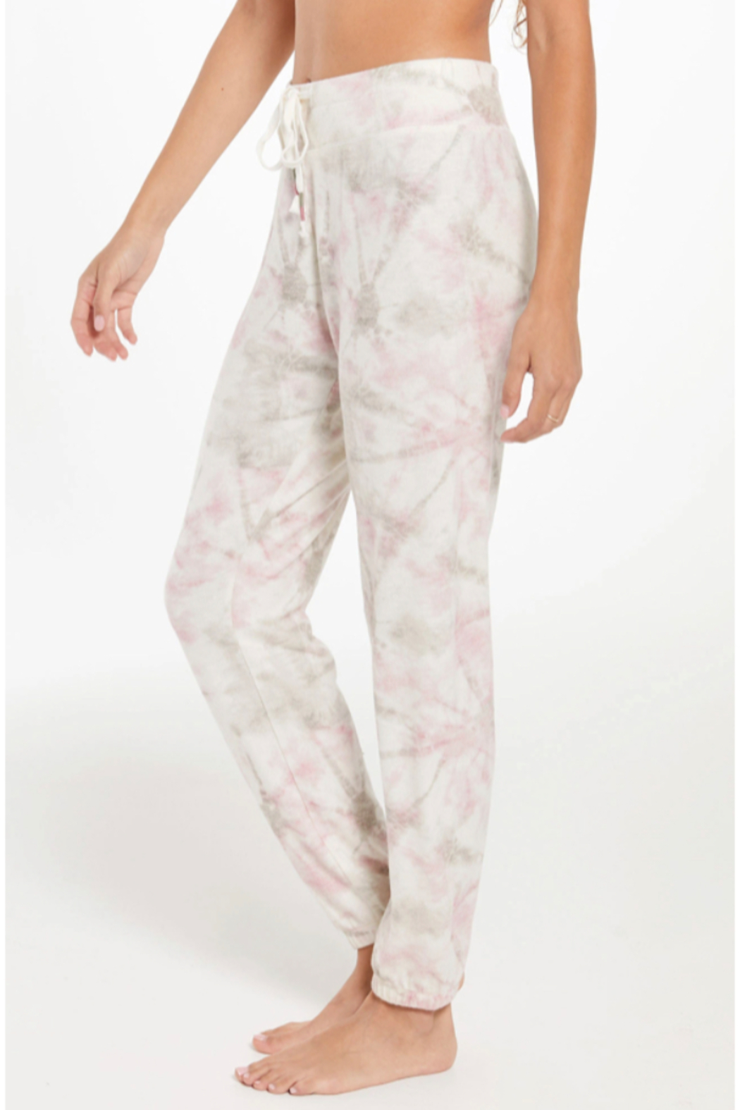 z supply Ava Faded Tie Dye Jogger - Front Full Image