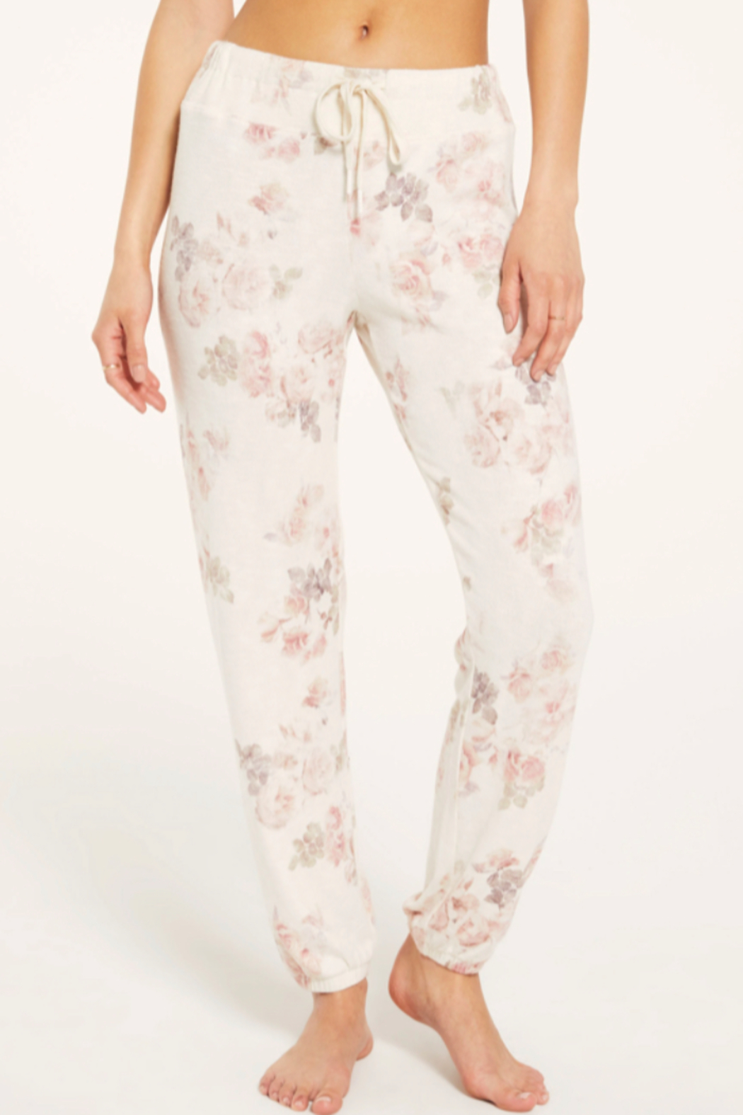 z supply Ava Floral Jogger - Front Full Image