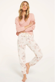 z supply Ava Floral Jogger - Product Mini Image