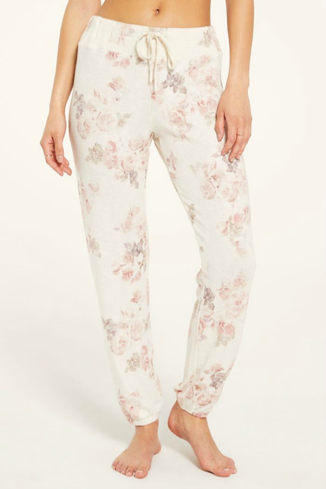 Zsupply Ava Floral Jogger - Front Cropped Image