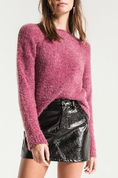 Shoptiques Product: Ava Fuzzy-Knit Sweater