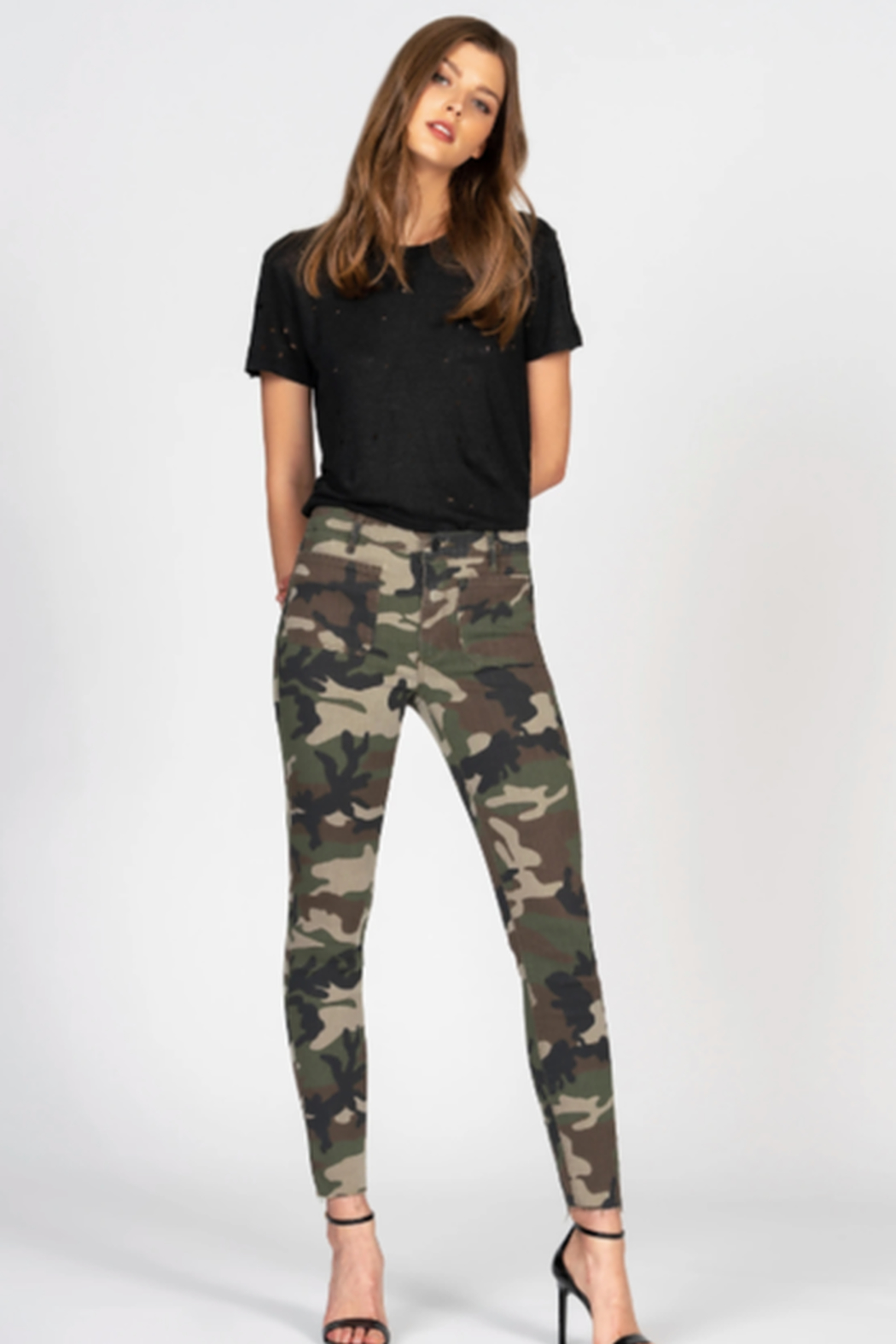 Black Orchid Denim Ava Patch Pocket Skinny - Front Cropped Image