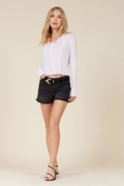 LaMade  Ava Snap Front Henley - Front cropped