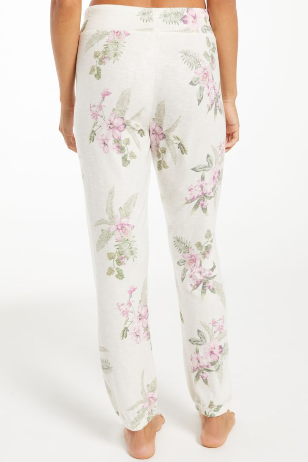 z supply Ava Spring Floral Jogger - Side Cropped Image