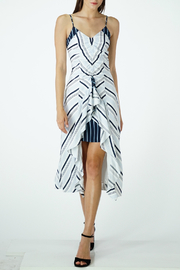Adelyn Rae Ava Striped Contrast Slip Midi Dress - Product Mini Image