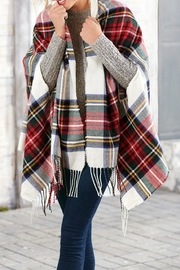 Mud Pie Ava Tartan Scarf-Wrap - Product Mini Image