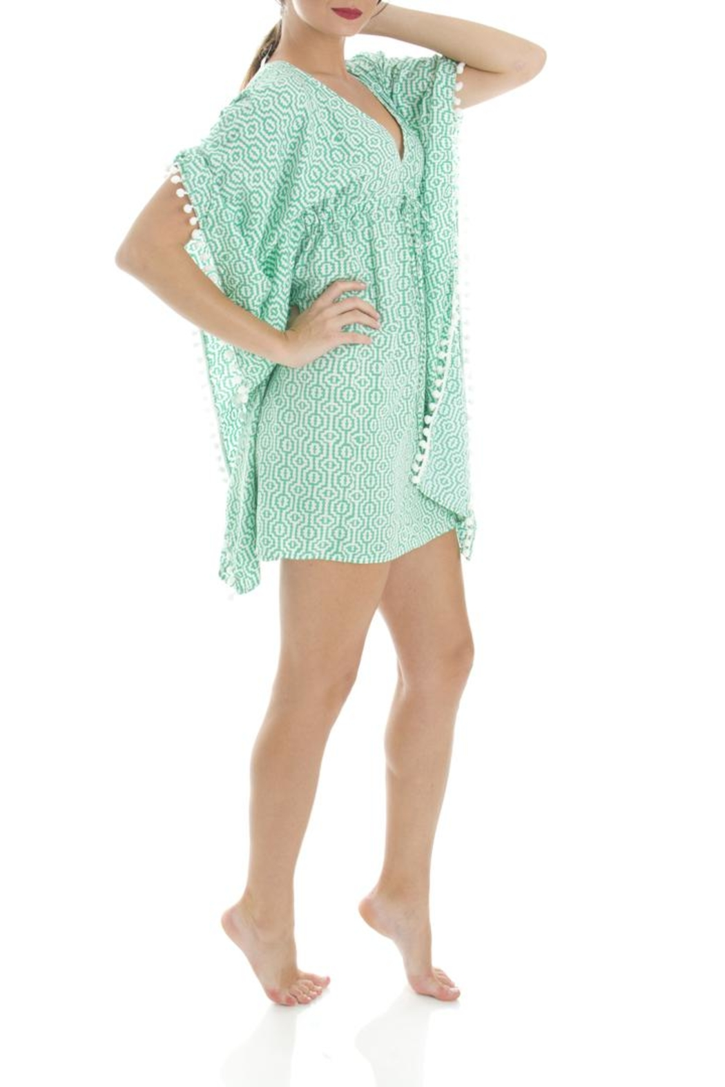 Ava Sky Green Interlock Tunic - Side Cropped Image