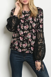 Available Black Floral Blouse - Product Mini Image