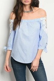 Available Blue White Top - Product Mini Image
