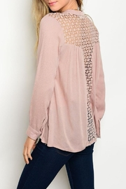Available Blush Blouse - Front cropped