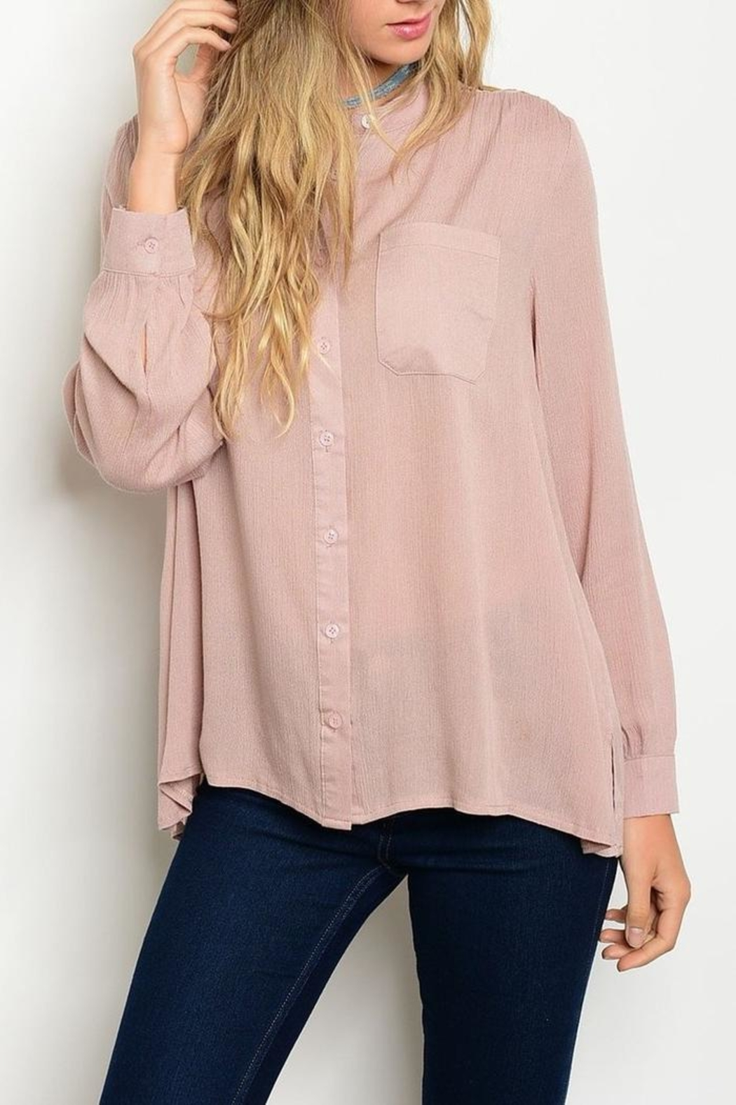 Available Blush Blouse - Front Full Image