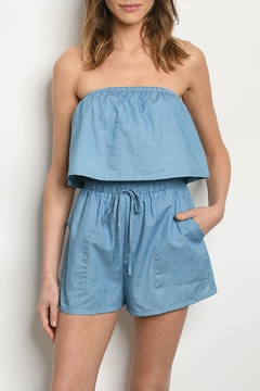Shoptiques Product: Denim Romper Set