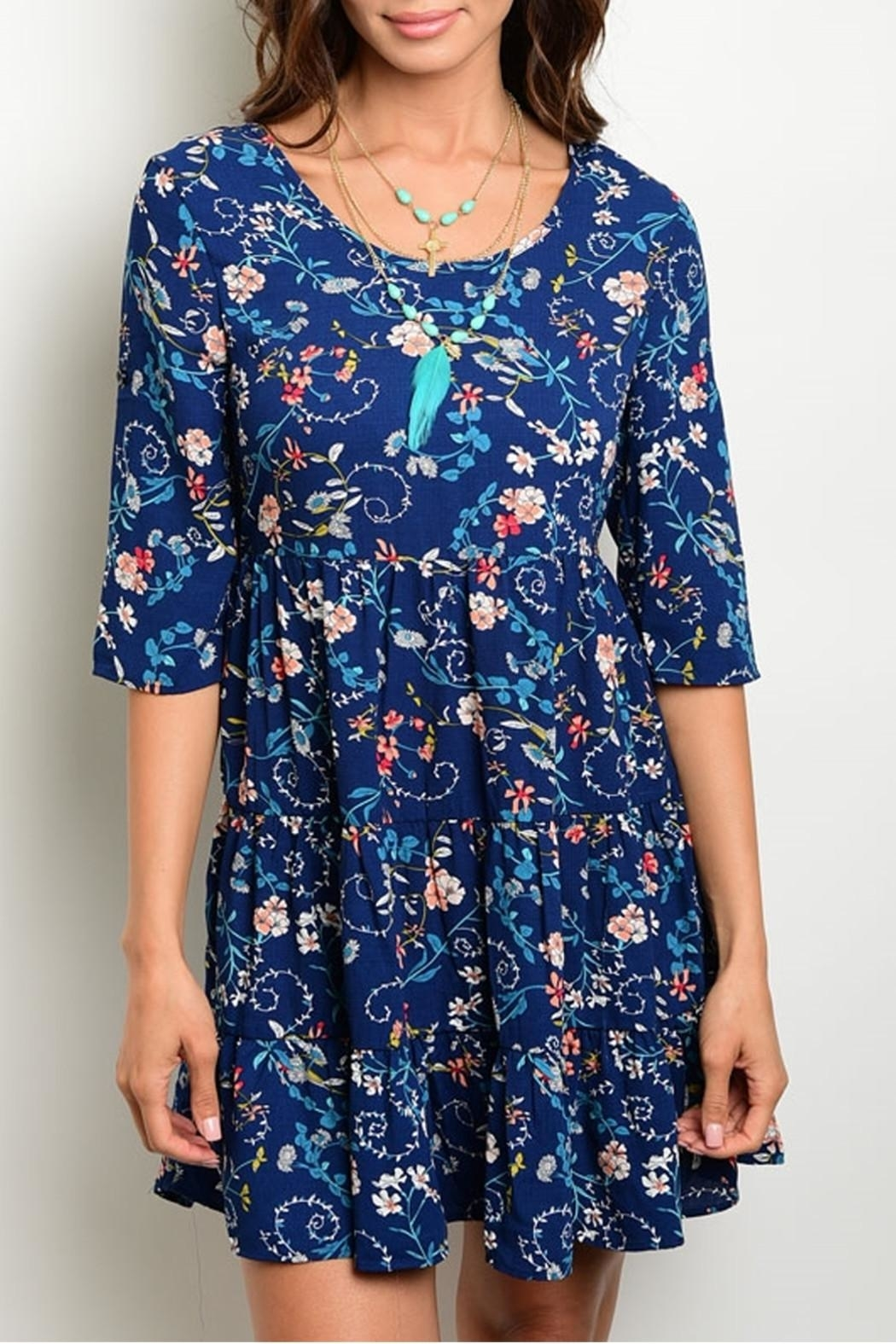 Available Blue Floral Dress - Main Image