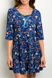Available Blue Floral Dress - Product Mini Image