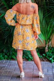 Available Floral Dress Offshoulder - Front full body