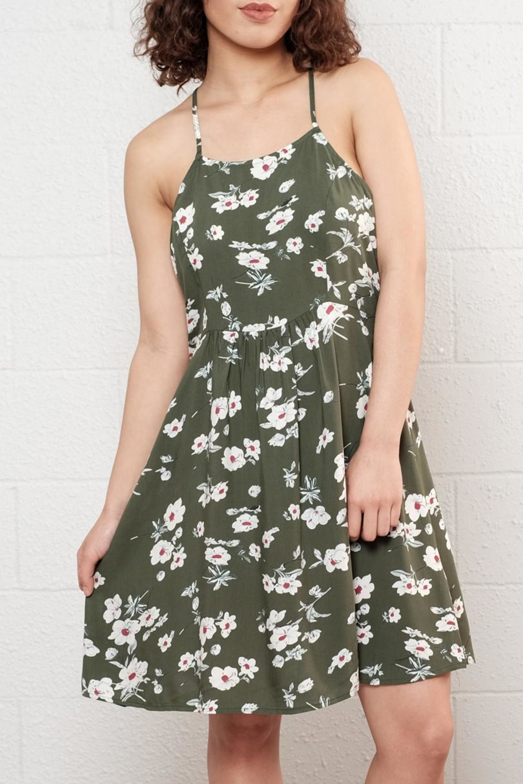 Available Floral Skater Dress - Front Cropped Image