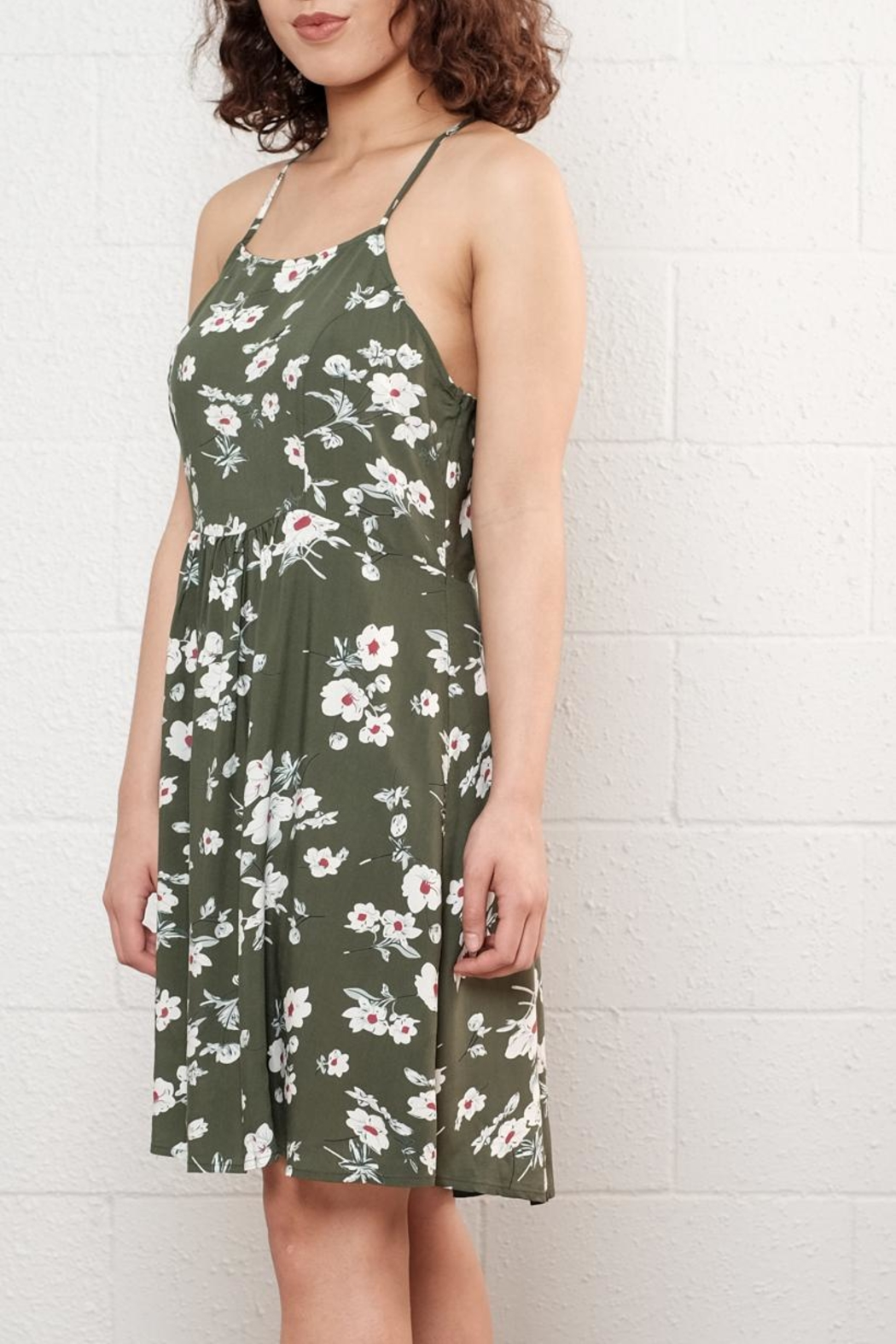 Available Floral Skater Dress - Front Full Image